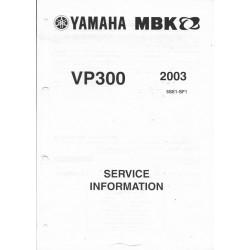 Manuel informations techniques scooter MBK/Yamaha VP300