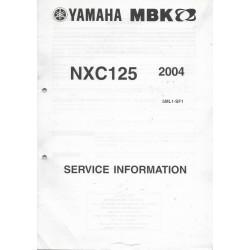 Manuel d'informations techniques Yamaha / MBK NXC125 2004