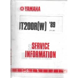 Manuel d'atelier YAMAHA DT 200 R 1989