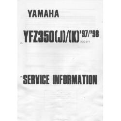 Manuel d'informations techniques Yamaha YFZ 350 1997-1998