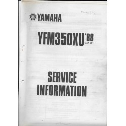 YAMAHA YFM 350 XU (type 2XK) 1988 1990 1993