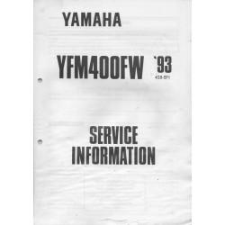 Manuel d'informations techniques Yamaha YFM 400 FW