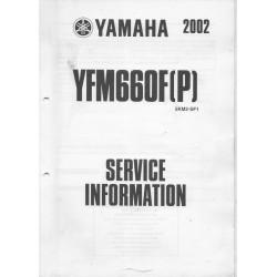Manuel d'informations techniques Yamaha YFM 660 F