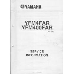 Manuel d'informations techniques Yamaha YFM4FAR et YFM400FAR