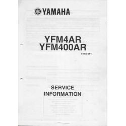 Manuel d'informations techniques Yamaha YFM4AR et YFM400AR