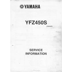 Manuel d'informations techniques Yamaha YZF 450 S