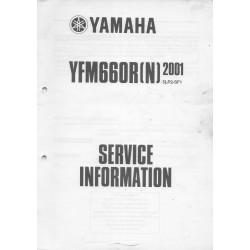 Manuel d'informations techniques Yamaha YFM660R 2001-2002