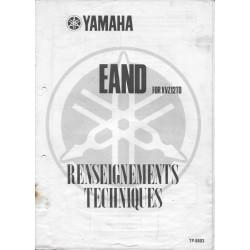 YAMAHA XVZ 12 TD de 1988 (notes techniques système EAND)