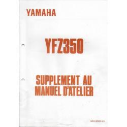 YAMAHA YFZ 350 de 1991 (Manuel atelier additif 12 / 1990)