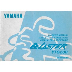 manuel du propriétaire quad Yamaha YFS200 Blaster