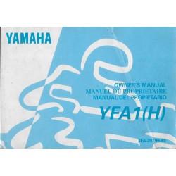 manuel propriétaire quad Yamaha YFA1 1995