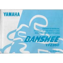 manuel du propriétaire quad YFZ350 Banshee 1996