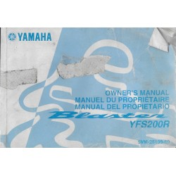 manuel du propriétaire quad Yamaha YFS200R Blaster