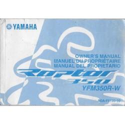 YAMAHA quad YFM 350 R-W