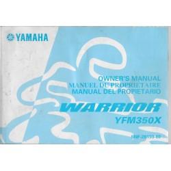YAMAHA YFM 350 XR Warrior (type 5NF modèle 2002)