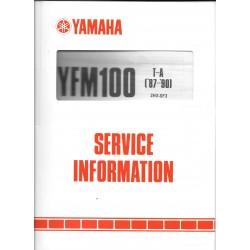 Manuel d'atelier YAMAHA YFM 100