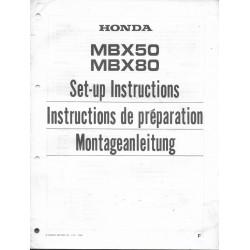 HONDA MBX 50 / MBX 80 de 1986 (manuel montage)