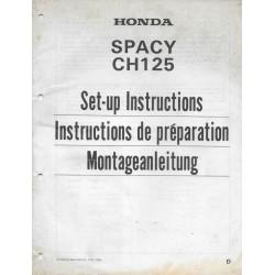 HONDA Spacy CH 125 de 1984 (manuel montage)