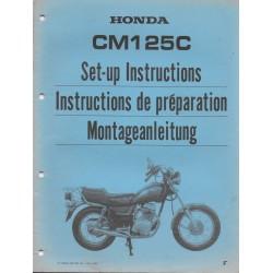 HONDA CM 125 C de 1986 (manuel montage)