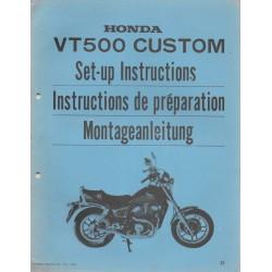 HONDA VT 500 Custom de 1983 (manuel montage)