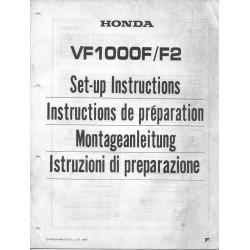 HONDA VF 1000 F / F2 de 1985 (manuel montage)