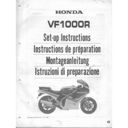 HONDA VF 1000 R de 1986 (manuel montage)