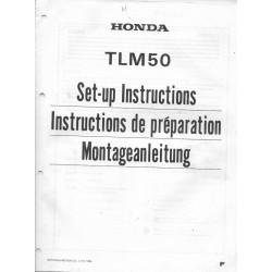 HONDA TLM 50 R de 1985 (manuel montage)