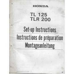 HONDA TLR 125 / TLR 200 de 1984 (manuel montage)