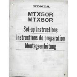 HONDA MTX 50 / 80 R de 1984 (manuel montage)