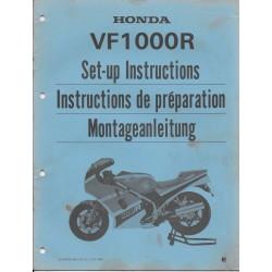 HONDA VF 1000 R de 1984 (manuel de montage)