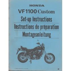 HONDA VF 1100 Custom de 1983 (manuel de montage)