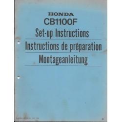 HONDA CB 1100 F de 1983 (manuel de montage)
