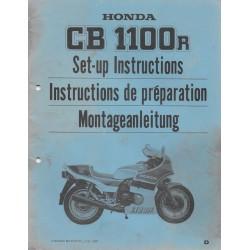 HONDA CB 1100 R de 1983 (manuel de montage)