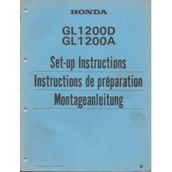 HONDA GL 1200 D / A de 1984 (manuel de montage)