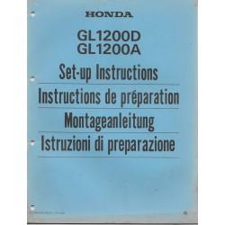 HONDA GL 1200 D / A de 1986 (manuel de montage)