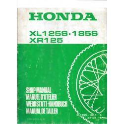 HONDA XL 125 S. 185 S. XR 125 Supplément 1981