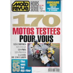 """MOTO REVUE """"170 motos testées pour vous"""" essais 1994"""