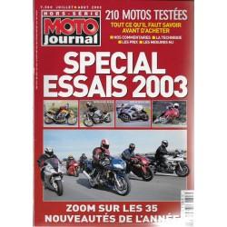 Moto Journal hors-série Spécial essais 2003