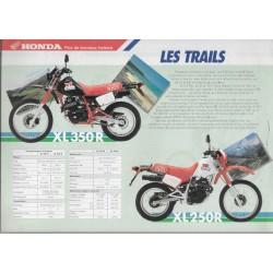 HONDA trails 125, 250, 350 de 1987 (prospectus)