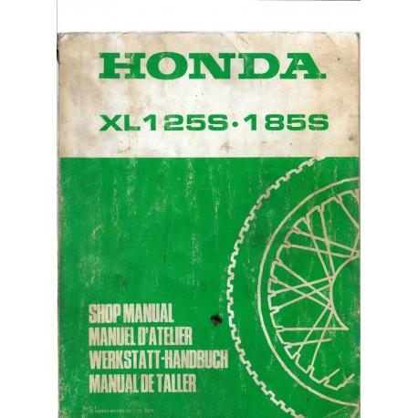 HONDA XL 125 S. XL 185 S. Manuel de base.