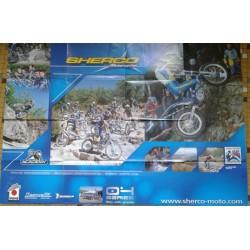 SHERCO gamme trial (affiche originale 98cm X 67cm)