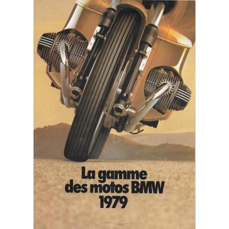 BMW série 7 (prospectus original gamme motos 1979)
