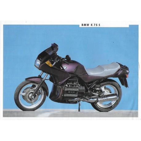 BMW K 75 S (Prospectus 1991)