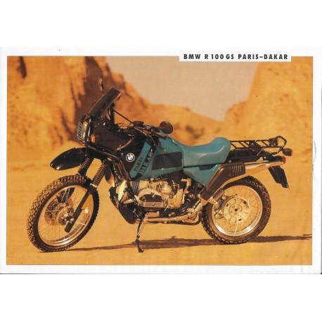 BMW R 100 GS PARIS - DAKAR (prospectus 1991)