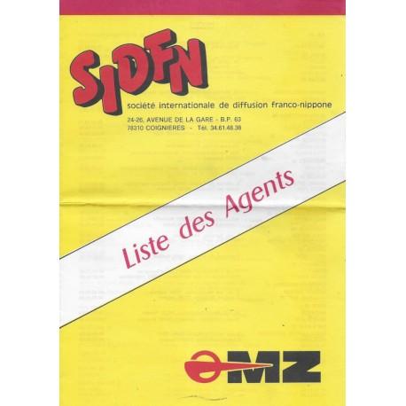 MZ (liste des agents en France en 1982 + prospectus 250 ETZ)