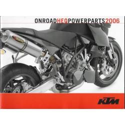 KTM (catalogue accessoires / équipements route de 2006)