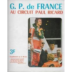 MOTOCYCLISME GP de France 1973 (supplément du n° 46)