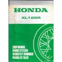 HONDA XL 125 RC de 1985 (additif manuel atelier 12 / 1984)
