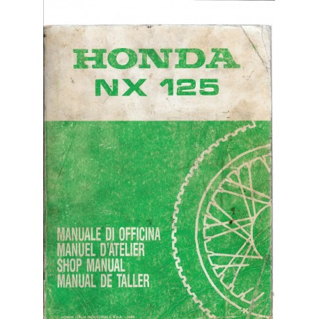 HONDA NX 125 Manuel de base