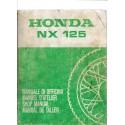 HONDA NX 125 de 1990 (Manuel atelier de base)
